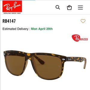 Ray Ban 4147 polarized flat top sunglasses